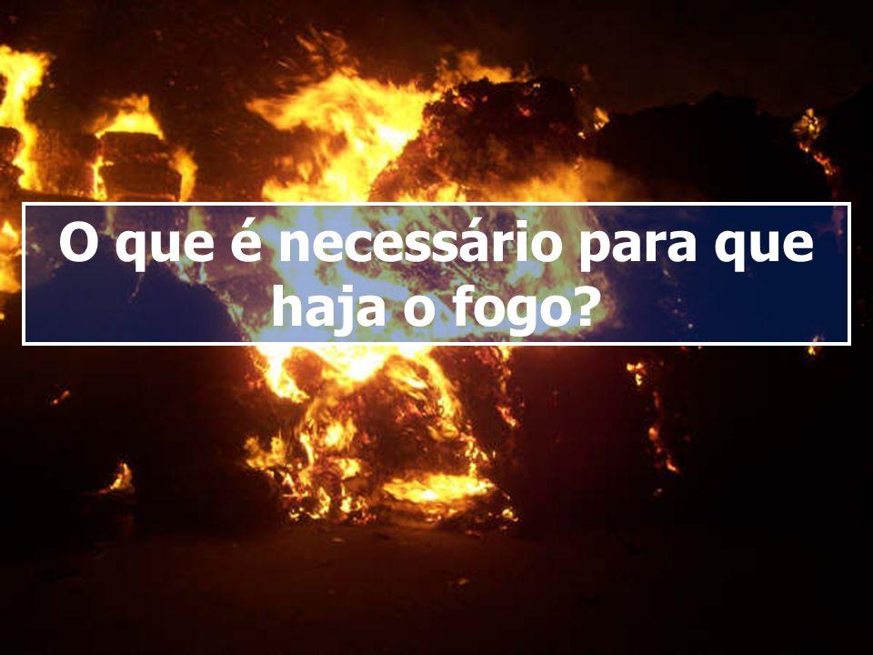 O que é necessário para que haja o fogo?