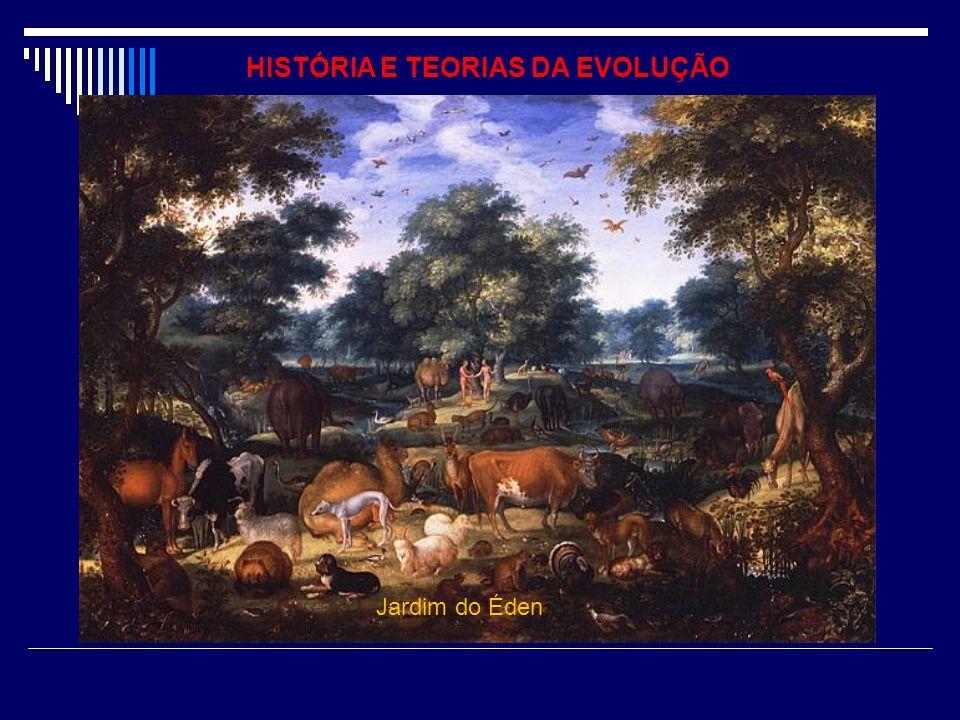 HISTÓRIA E TEORIAS DA EVOLUÇÃO O Jardim do Éden, Jardim das Delícias ou Paraíso Terrestre é na tradição das religiões abraâmicas o local da primitiva habitação do homem.