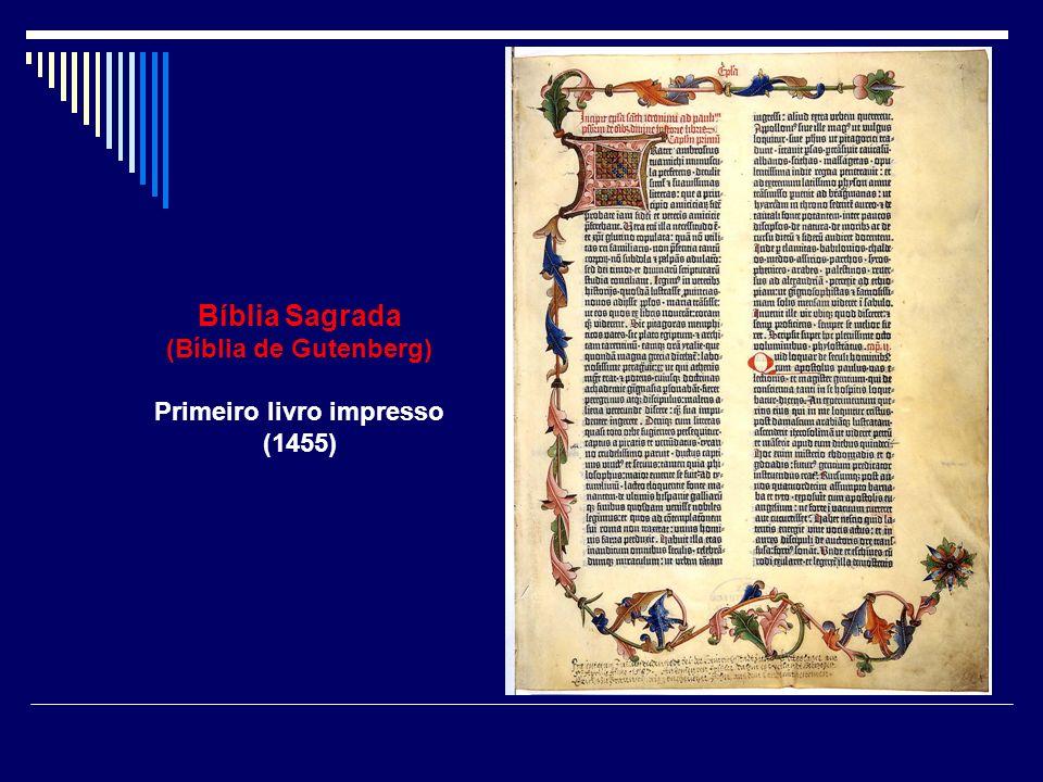 Bíblia Sagrada (Bíblia de Gutenberg) Primeiro livro impresso (1455)