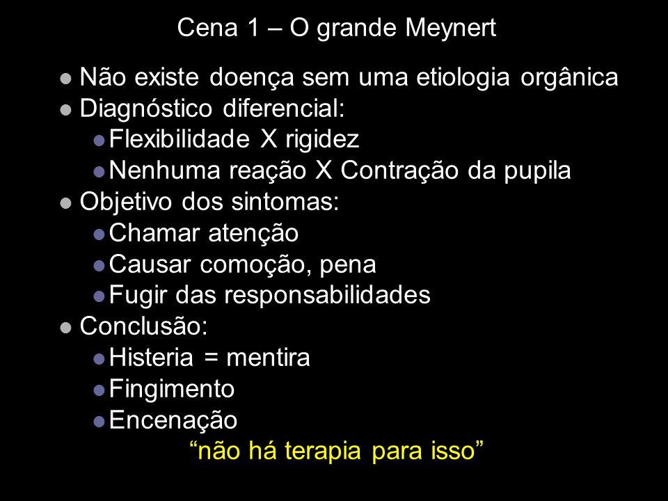 Cena 1 – O grande Meynert Não existe doença sem uma etiologia orgânica Diagnóstico diferencial: Flexibilidade X rigidez Nenhuma reação X Contração da