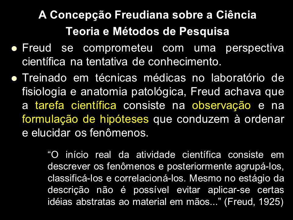 A Concepção Freudiana sobre a Ciência Teoria e Métodos de Pesquisa Freud se comprometeu com uma perspectiva científica na tentativa de conhecimento. T