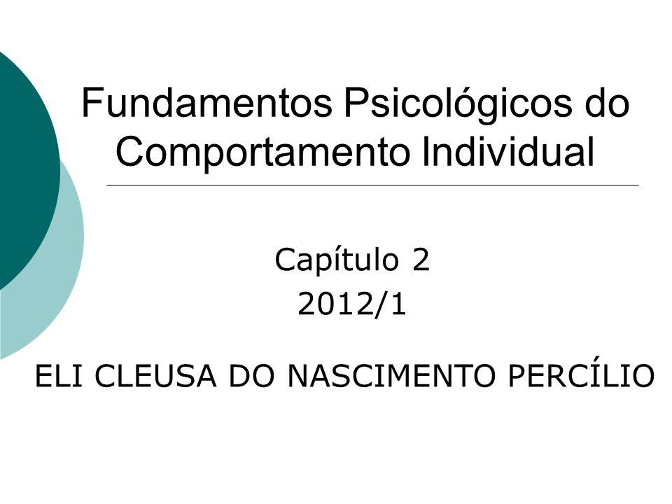 Fundamentos Psicológicos do Comportamento Individual Capítulo 2 2012/1 ELI CLEUSA DO NASCIMENTO PERCÍLIO