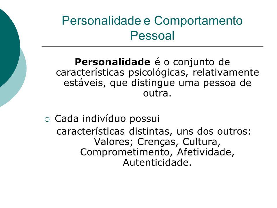 Personalidade é o conjunto de características psicológicas, relativamente estáveis, que distingue uma pessoa de outra. Cada indivíduo possui caracterí