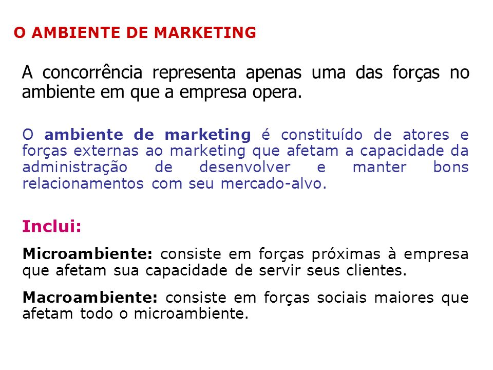 A Natureza do Marketing Dimensões do marketing holístico