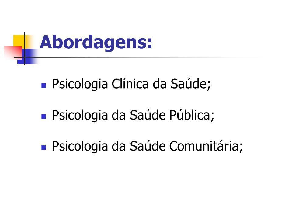 Perspectivas da PS Tradicional: modelo biopsicossocial, investiga comportamentos saudáveis e de risco.