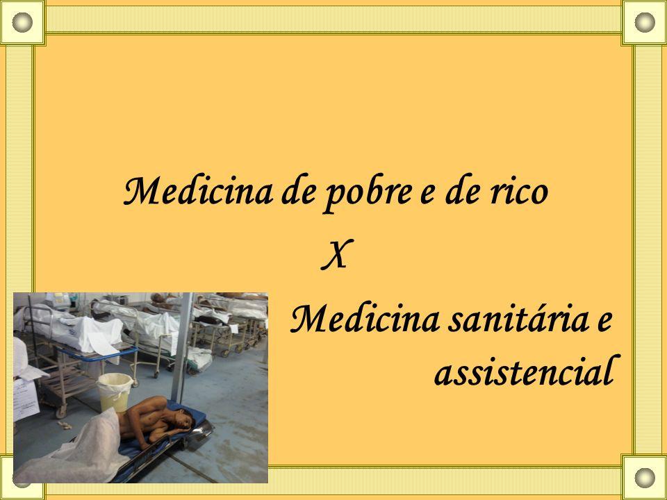 Medicina de pobre e de rico X Medicina sanitária e assistencial