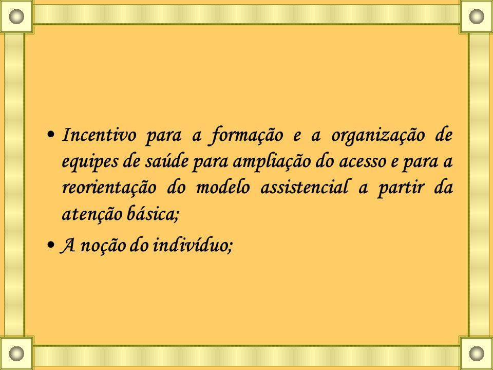 Incentivo para a formação e a organização de equipes de saúde para ampliação do acesso e para a reorientação do modelo assistencial a partir da atençã