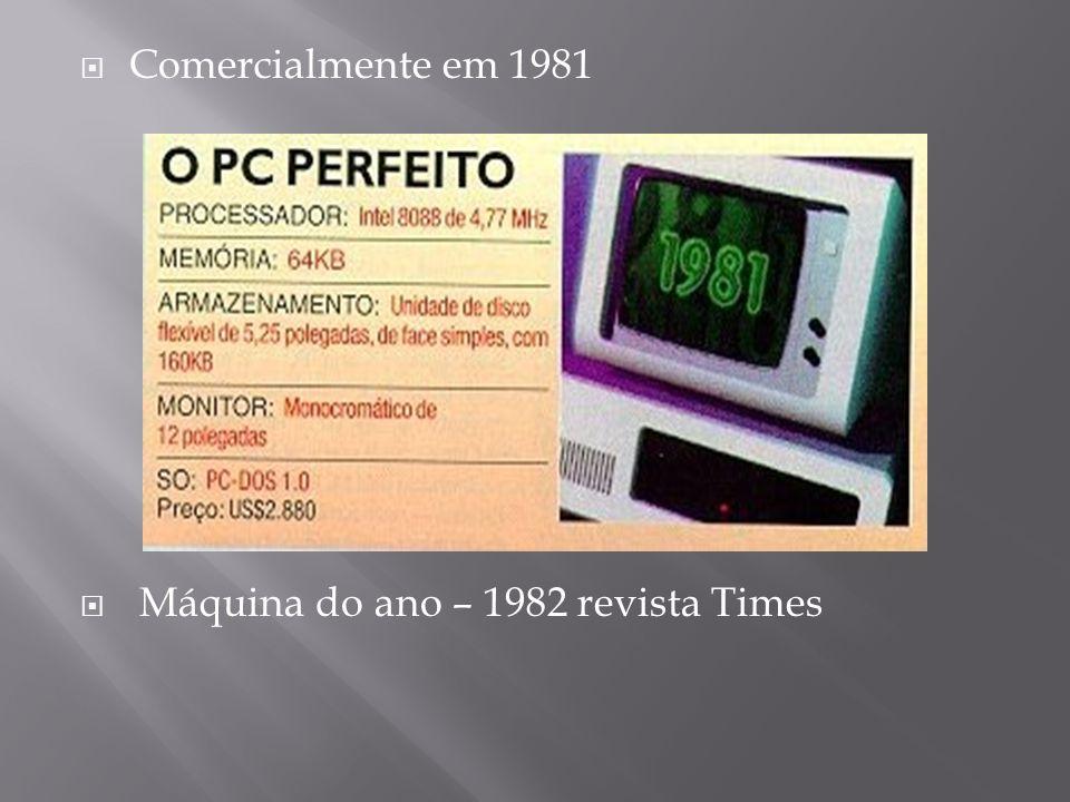 Comercialmente em 1981 Máquina do ano – 1982 revista Times