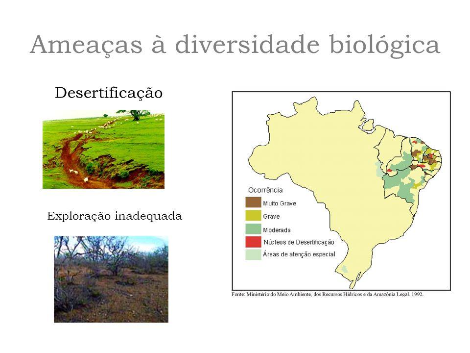 Desertificação Exploração inadequada