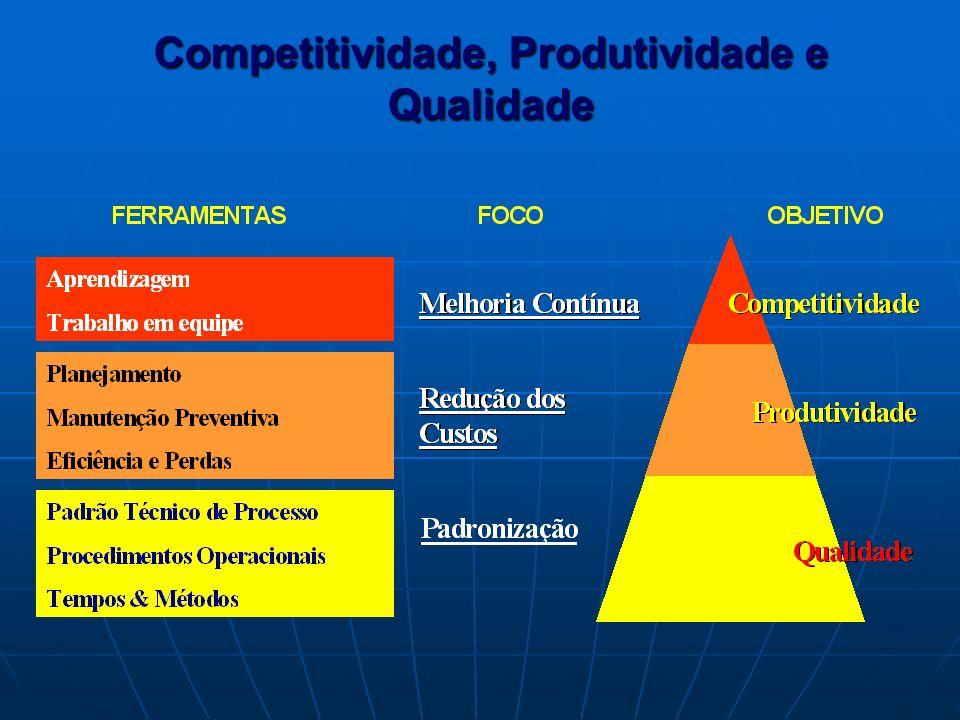 COMPETITIVIDADE COMPETITIVIDADE – É resultante da Qualidade e Produtividade alcançada nos processos da organização.
