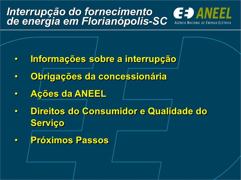 Informações sobre a Interrupção Data: 29 de outubro de 2003 – 13h15min.