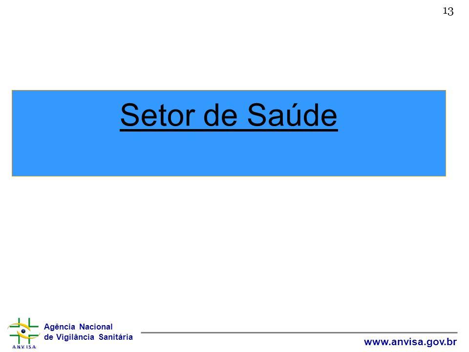 Agência Nacional de Vigilância Sanitária www.anvisa.gov.br Setor de Saúde 13