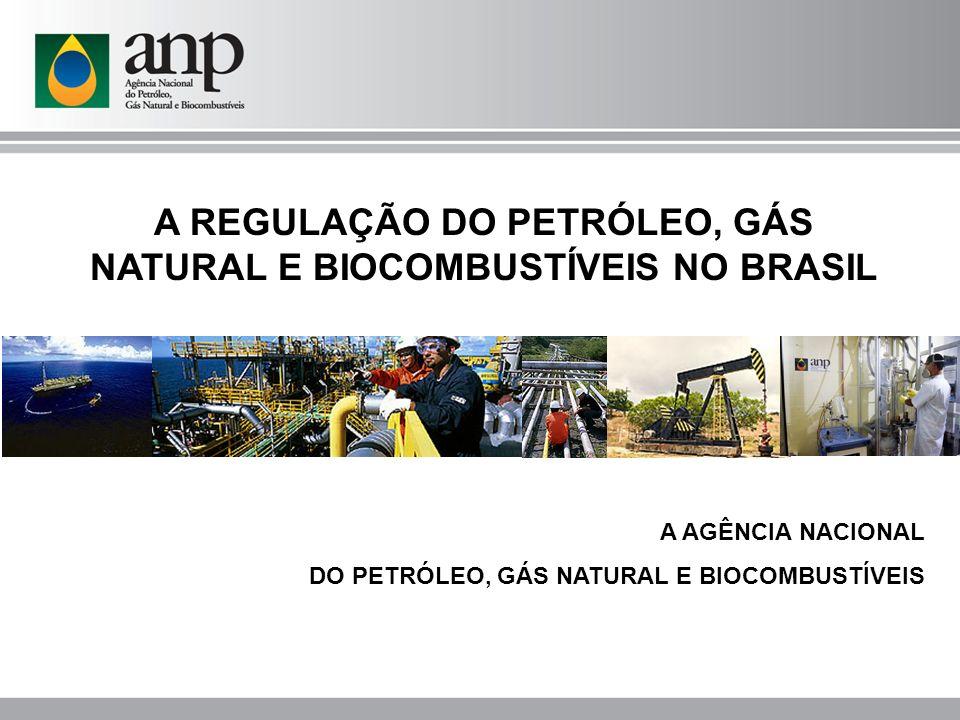 PETRÓLEO, GÁS E BIOCOMBUSTÍVEIS Antecedentes Até 1997, antes da Lei do Petróleo Exploração Desenvolvimento Produção Distribuição Revenda Monopólio da União Petrobras companhia estatal