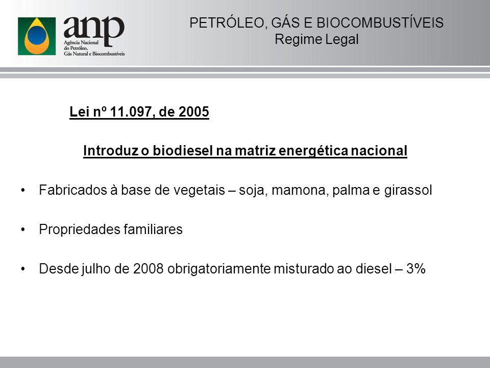 SETOR DO PETRÓLEO E GÁS Concessões Transição: Em 6 de agosto de 1998, ANP e Petrobras assinaram 286 contratos de concessão para blocos exploratórios e campos em produção em terra e mar - a chamada Rodada Zero.
