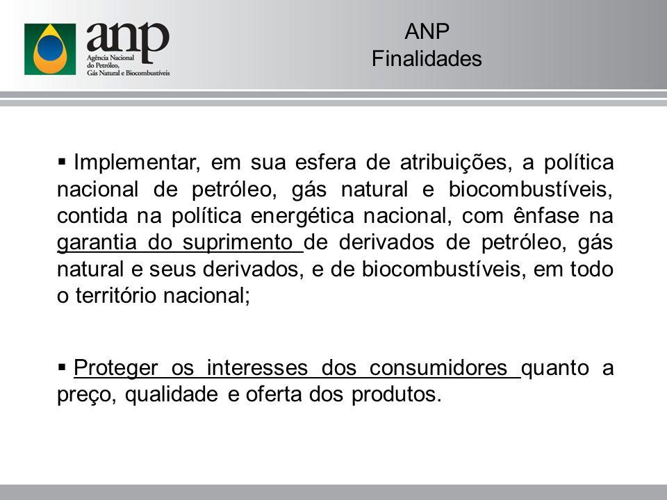 ANP Como funciona Diretoria colegiada composta de um diretor-geral e quatro diretores, com mandatos de quatro anos, renováveis e não coincidentes; Sede em Brasília, escritório central no Rio de Janeiro e escritórios regionais em São Paulo e Salvador.