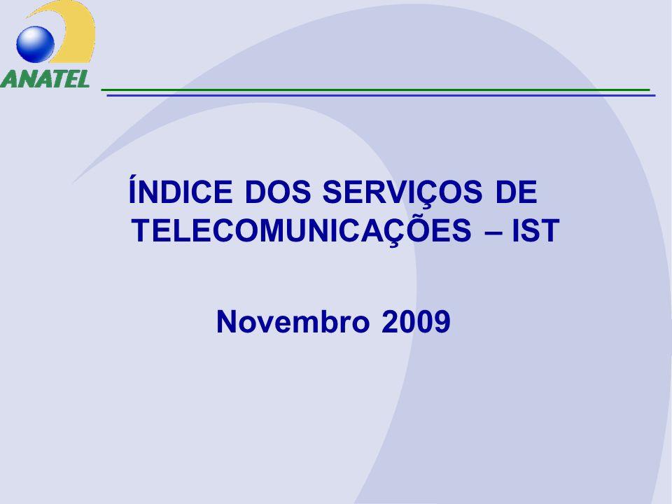 ÍNDICE DOS SERVIÇOS DE TELECOMUNICAÇÕES – IST Novembro 2009