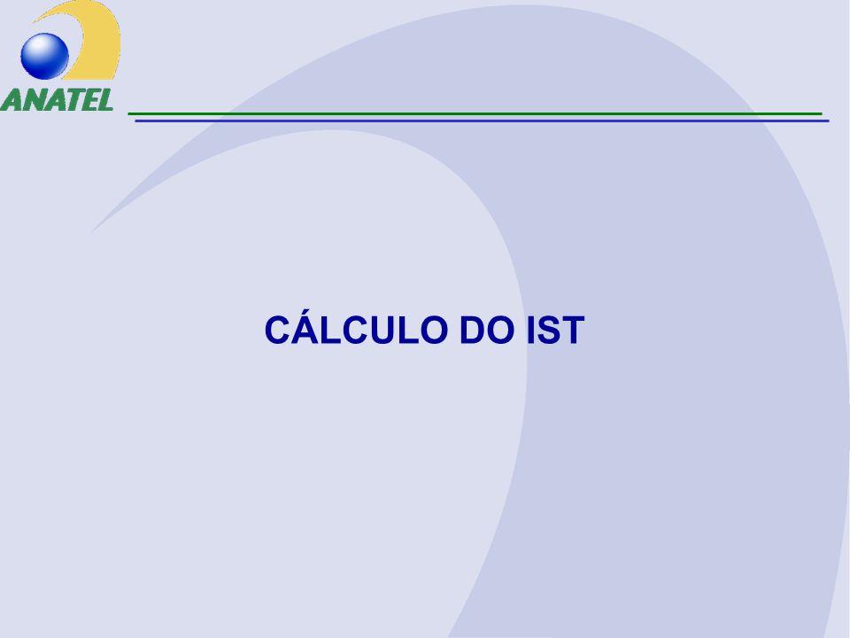 CÁLCULO DO IST