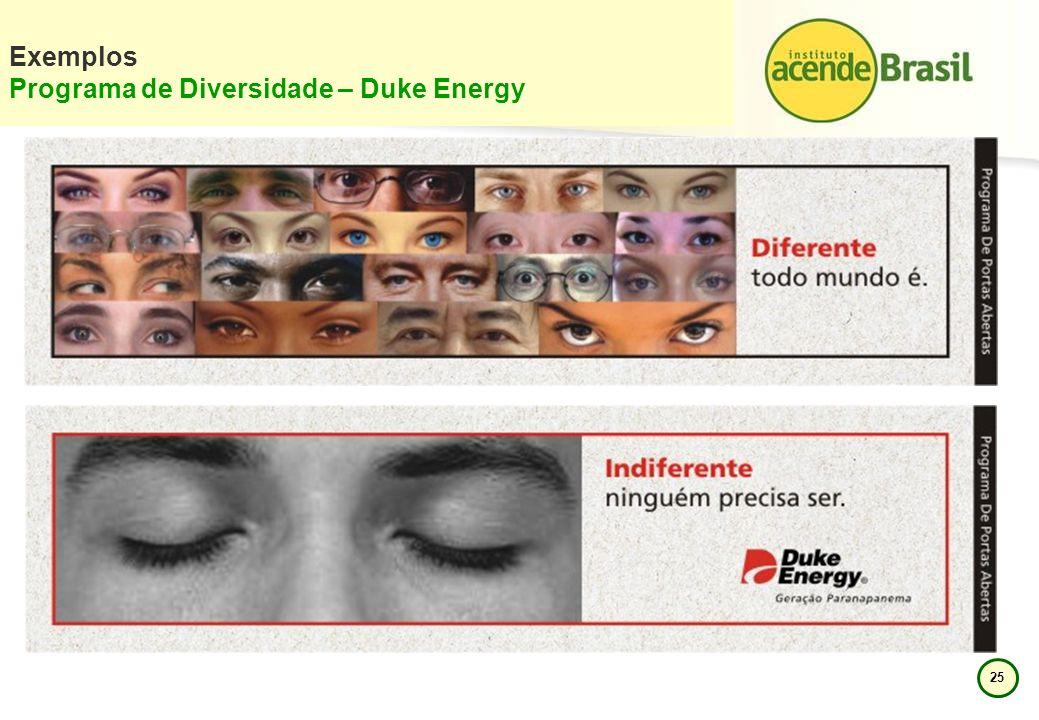 25 Exemplos Programa de Diversidade – Duke Energy