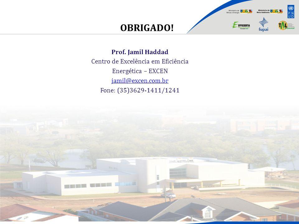 OBRIGADO! Brasília, 17 de setembro de 2010 Prof. Jamil Haddad Centro de Excelência em Eficiência Energética – EXCEN jamil@excen.com.br Fone: (35)3629-