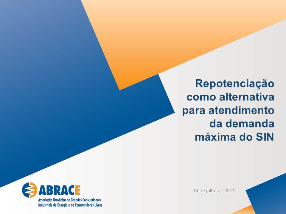 14 de julho de 2011 Repotenciação como alternativa para atendimento da demanda máxima do SIN