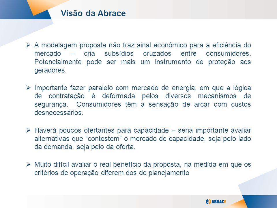5 Visão da Abrace A modelagem proposta não traz sinal econômico para a eficiência do mercado – cria subsídios cruzados entre consumidores.