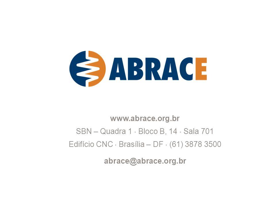 8 www.abrace.org.br SBN – Quadra 1 Bloco B, 14 Sala 701 Edifício CNC Brasília – DF (61) 3878 3500 abrace@abrace.org.br