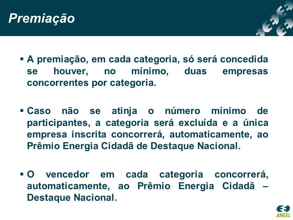 Prêmios Troféu para as empresas vencedoras em cada categoria e para o vencedor do Destaque Nacional.