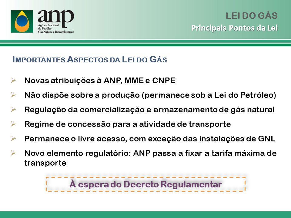 Gasodutos Considerados Existentes Fonte: ANP/SCM, conforme a Portaria ANP n.º 170/98 Notas: O período de exclusividade se refere apenas ao período de 10 anos estabelecido na Lei nº 11.909/09.
