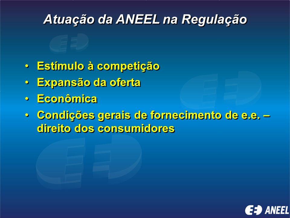 A ANEEL não formula políticas e nem garante os investimentos na expansão da oferta. Cria as condições a partir das políticas definidas A ANEEL não for