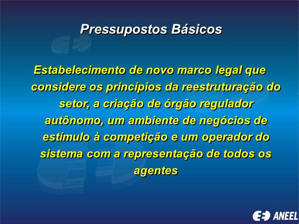 Quais os pressupostos e princípios básicos do novo modelo setorial?