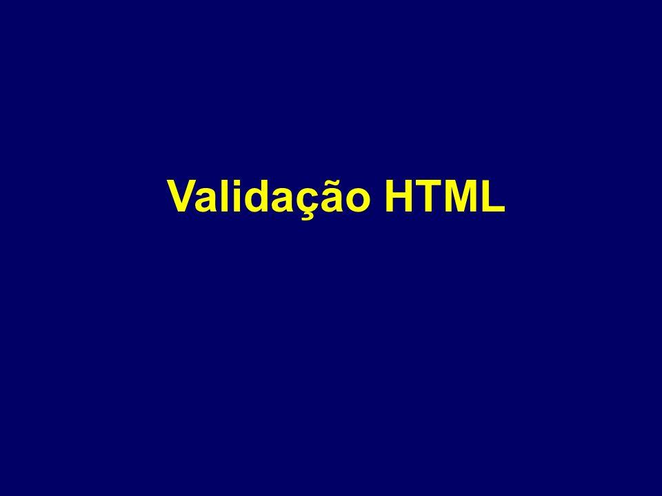 Validação HTML