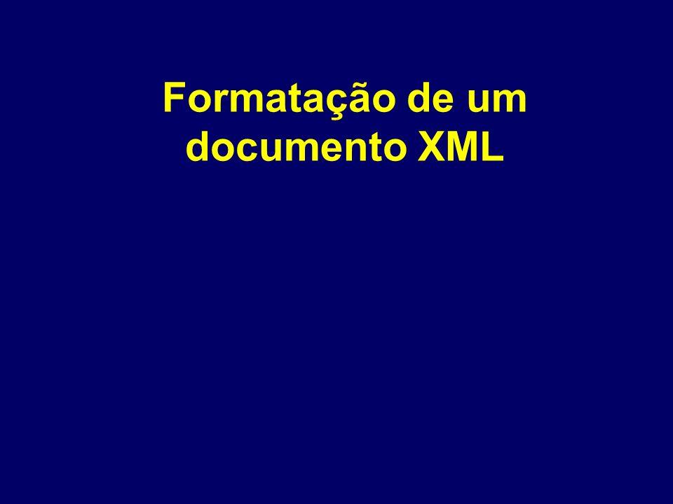 Formatação de um documento XML