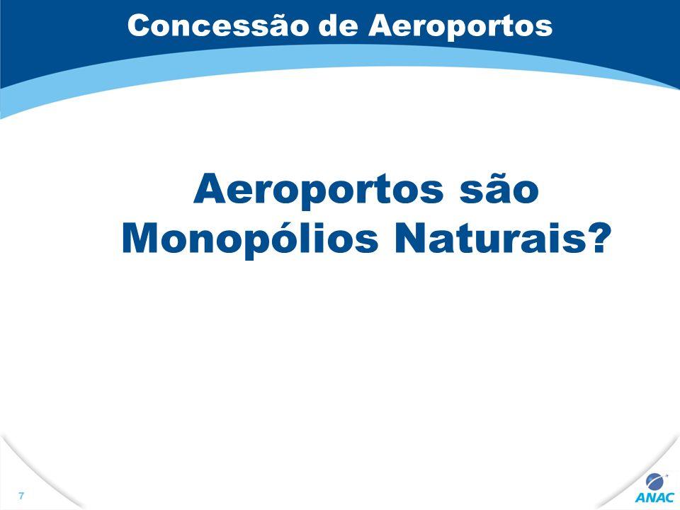 Concessão de Aeroportos Aeroportos são Monopólios Naturais? 7