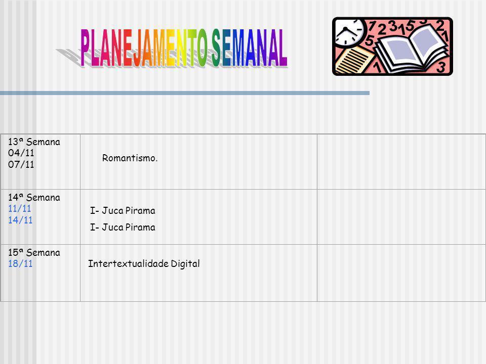 Texto digital: 18/11.Prova final: 25/11. Seminários: 30/09: Cláudio Manuel da Costa.