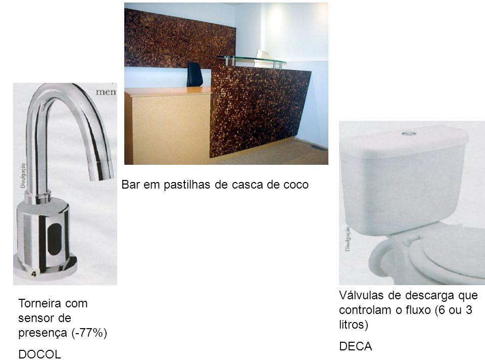 Torneira com sensor de presença (-77%) DOCOL Válvulas de descarga que controlam o fluxo (6 ou 3 litros) DECA Bar em pastilhas de casca de coco