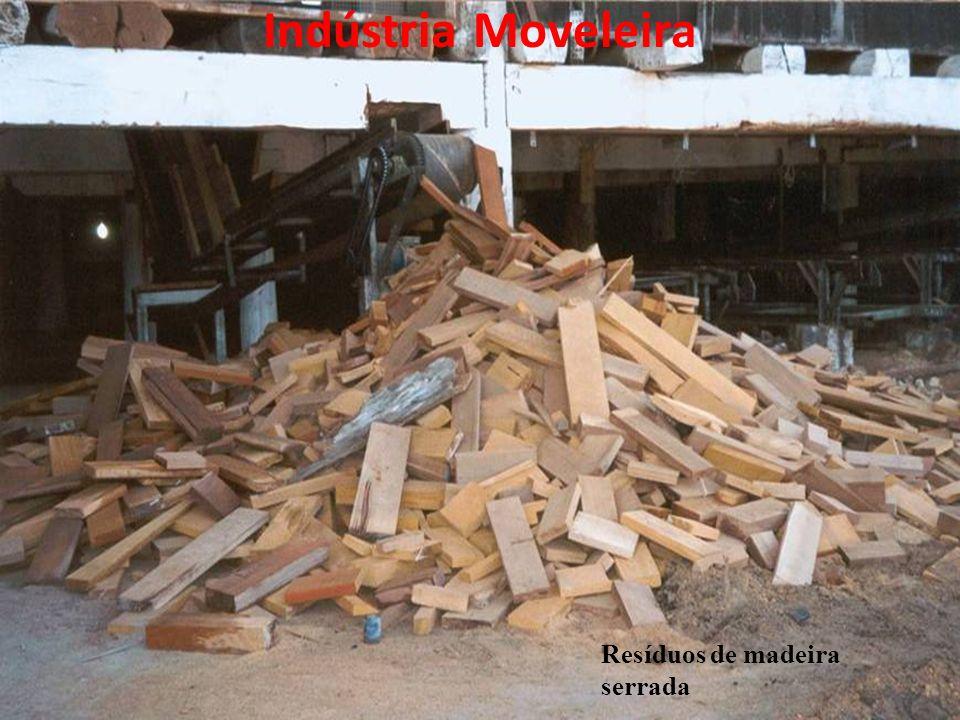 Resíduos de madeira serrada Indústria Moveleira