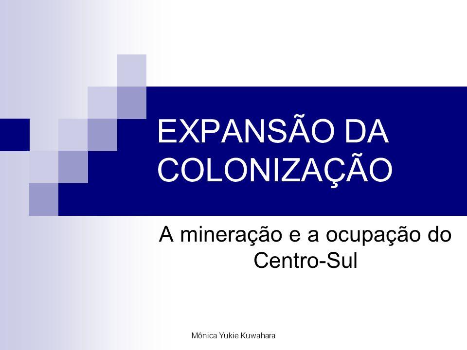 Mônica Yukie Kuwahara EXPANSÃO DA COLONIZAÇÃO A mineração e a ocupação do Centro-Sul