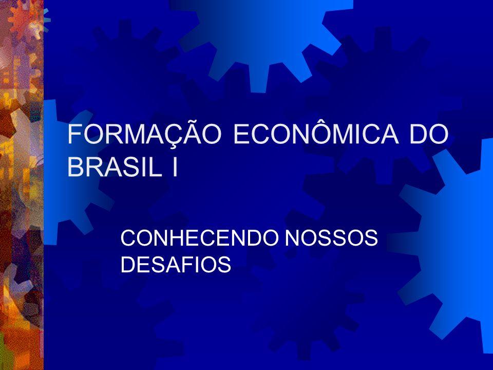 FORMAÇÃO ECONÔMICA DO BRASIL I CONHECENDO NOSSOS DESAFIOS