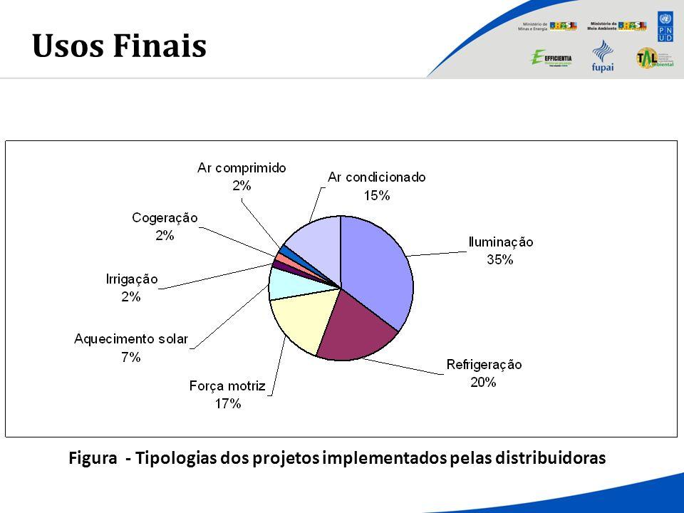 Usos Finais Figura - Tipologias dos projetos implementados pelas distribuidoras