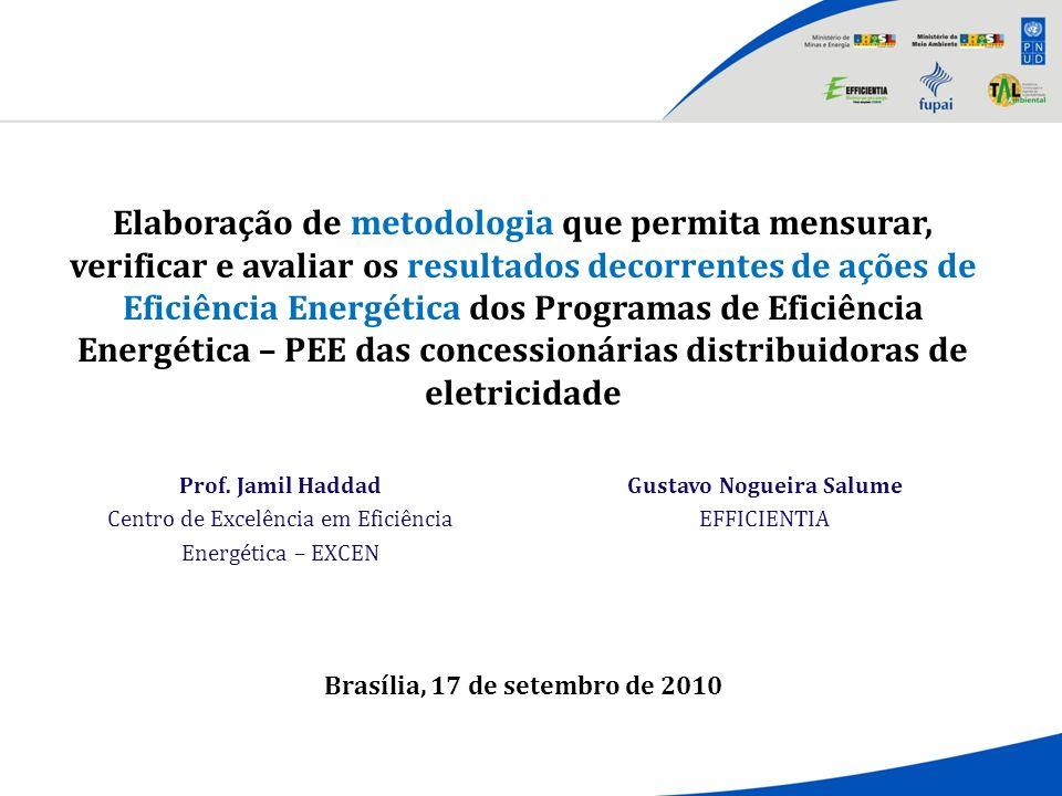 Brasília, 17 de setembro de 2010 Prof. Jamil Haddad Centro de Excelência em Eficiência Energética – EXCEN Gustavo Nogueira Salume EFFICIENTIA