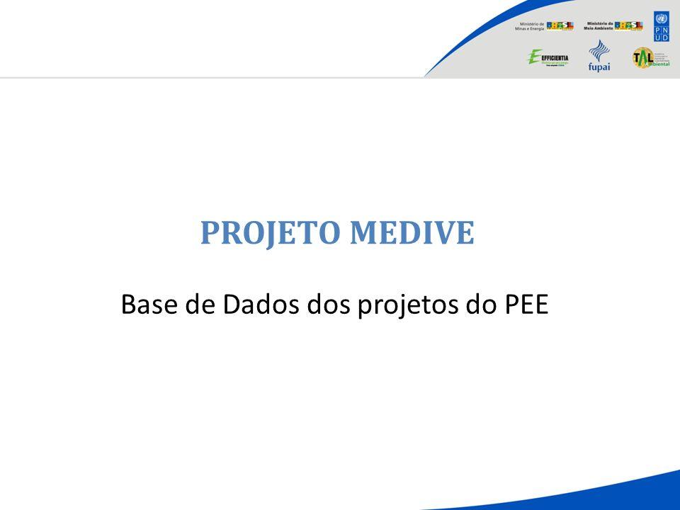 PROJETO MEDIVE Base de Dados dos projetos do PEE