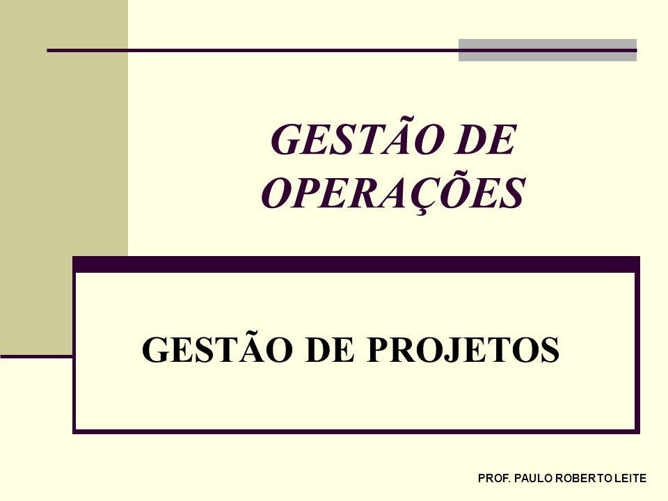 PROF. PAULO ROBERTO LEITE GESTÃO DE OPERAÇÕES GESTÃO DE PROJETOS