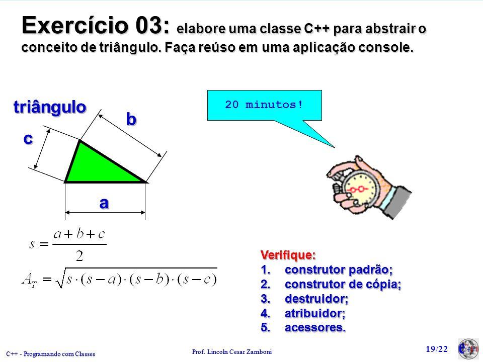 C++ - Programando com Classes Prof.