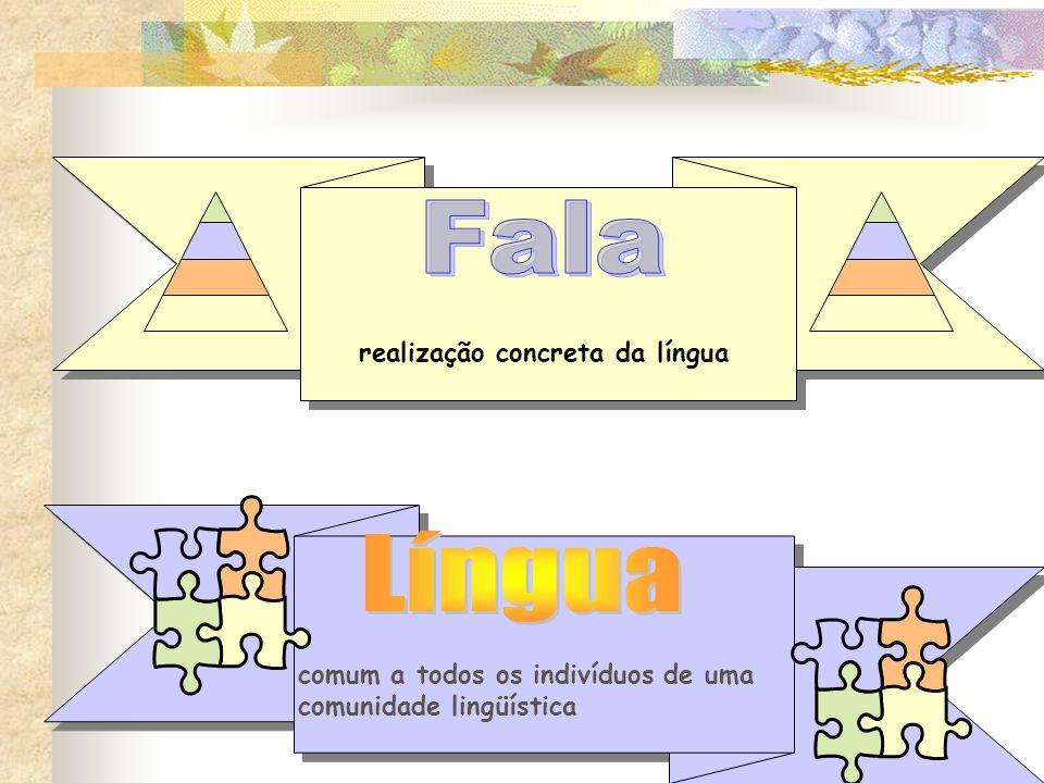 realização concreta da língua comum a todos os indivíduos de uma comunidade lingüística
