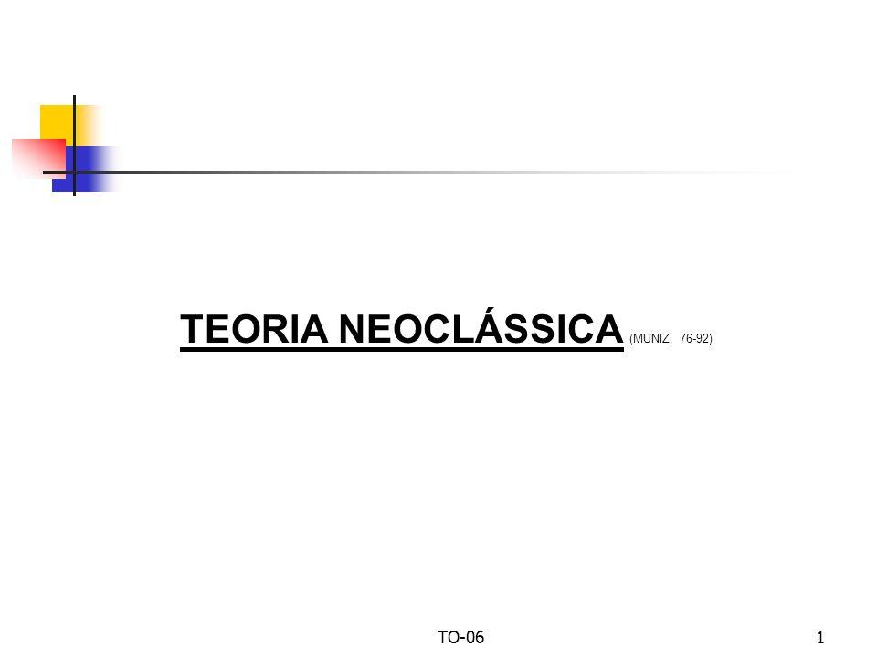 TO-061 TEORIA NEOCLÁSSICA (MUNIZ, 76-92)