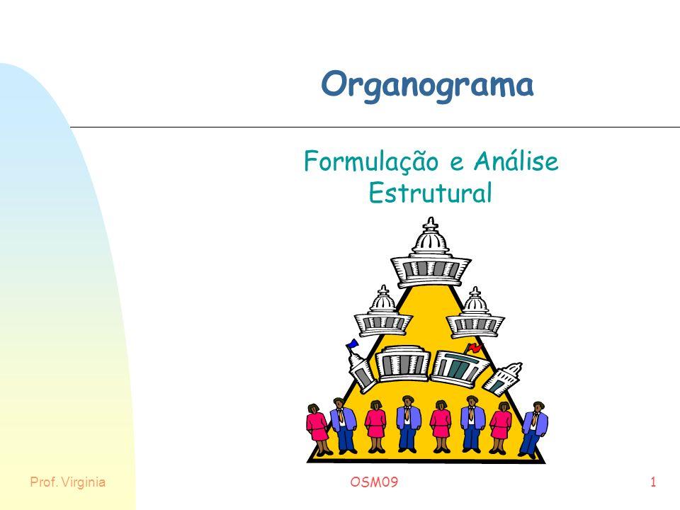 Prof. Virginia OSM091 Organograma Formulação e Análise Estrutural