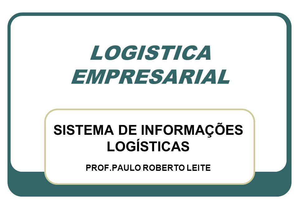 LOGISTICA EMPRESARIAL SISTEMA DE INFORMAÇÕES LOGÍSTICAS PROF.PAULO ROBERTO LEITE