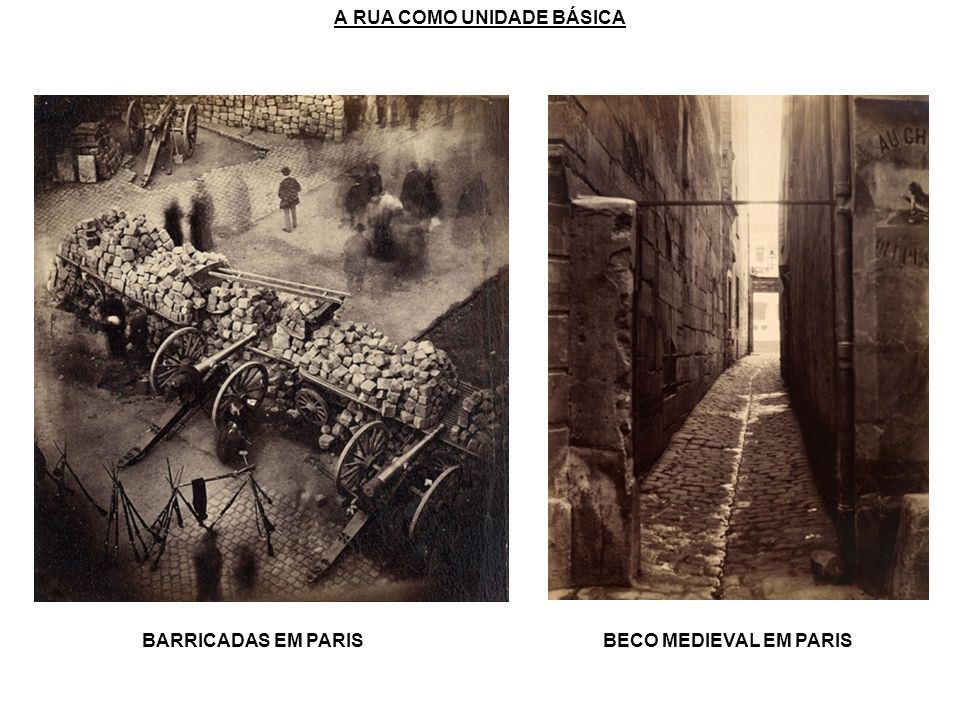 A RUA COMO UNIDADE BÁSICA BARRICADAS EM PARISBECO MEDIEVAL EM PARIS