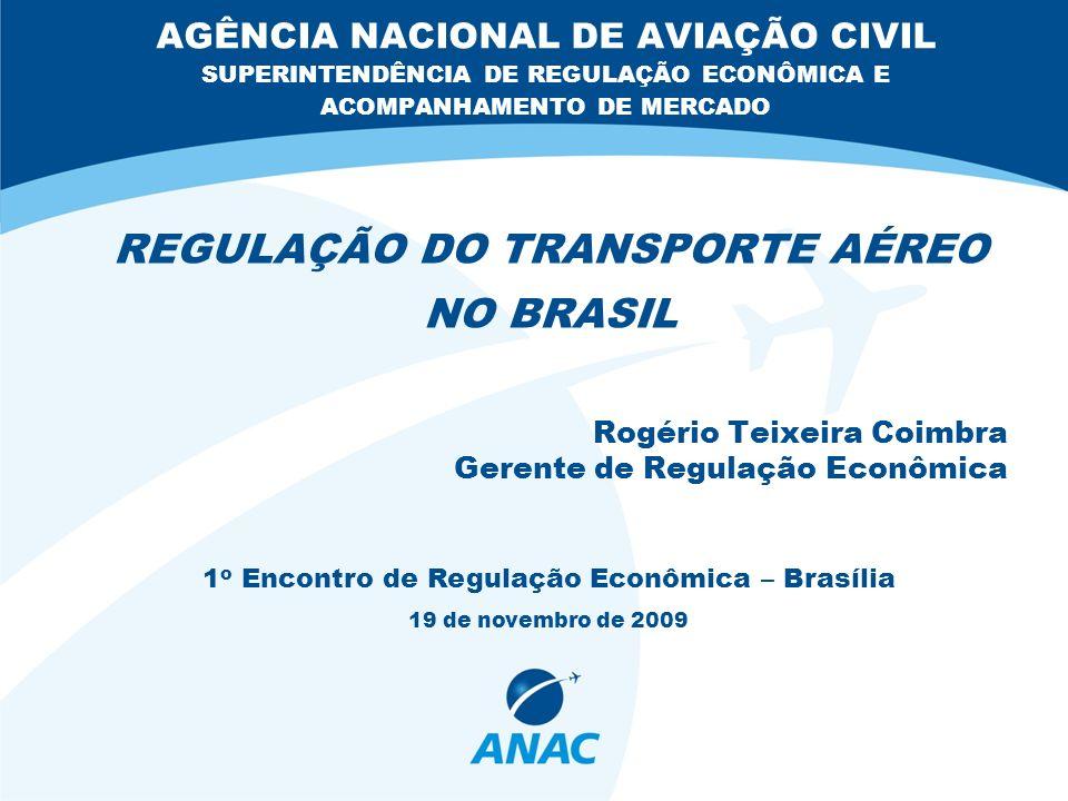 2 Sumário Introdução Regulação Técnica x Regulação Econômica Regulação Econômica do Transporte Aéreo Concessão x Autorização Participação de Capital Estrangeiro Controle x Liberdade de Oferta Política Tarifária Transporte Aéreo Internacional