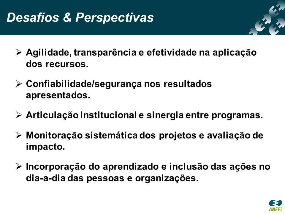Agilidade, transparência e efetividade na aplicação dos recursos.